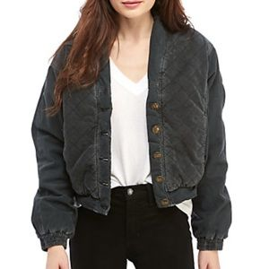 NWT Free People Main Squeeze Quilted Bomber